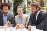 Business colleagues on their lunch — Stock Photo