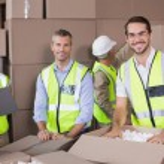 Warehouse workers preparing shipment in — Stockfoto #53920309