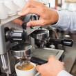 Barista making a cup of coffee — Stock Photo #53921005