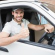 Delivery driver showing thumbs up — Foto de Stock   #53921571