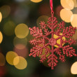 Focus on red star christmas decoration — Stock Photo #53922231