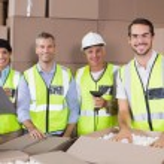 Warehouse workers preparing shipment in — Stockfoto #53924305