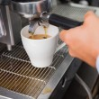 Barista making a cup of coffee — Stock Photo #53926533