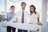 Business team reading a plan — Stock Photo