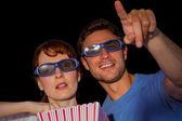 Couple enjoying a movie night — Stock Photo