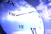 Digitally generated roman numeral clock — ストック写真