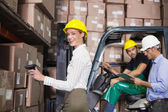 Warehouse team working — Foto Stock