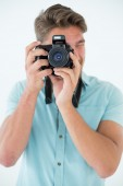 Handsome male photographer — Stockfoto