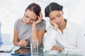 Businesswoman and her colleague sleeping — Stock Photo