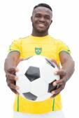 Portrait of Brazilian football player — Stockfoto