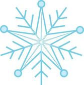 Digitally generated blue snow flake — Stock Photo