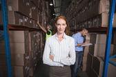 Warehouse manager smiling at camera — Fotografia Stock
