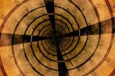 Digitally generated roman numeral clock vortex — Stock Photo