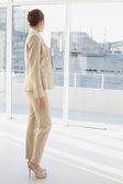 Pretty businesswoman looking towards city — Stock Photo