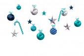 Digitally generated hanging christmas decorations — Stock Photo