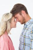 Young couple looking at each other over — Stock Photo
