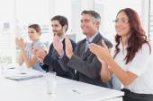 Business team all applauding — Stockfoto