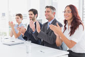 Business team all applauding — Stock Photo