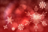 Red snow flake pattern design — Stock Photo