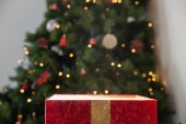 Light shining from christmas present — Stockfoto