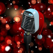 Microphone with Santa hat — Stock Photo #56886511