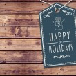 Composite image of happy holidays banner — Stock Photo #56888357