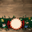 Fir branch christmas decoration garland — Stock Photo #56888955