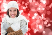 Brunette in warm clothing — Stock Photo