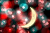 Composite image of crescent moon — Stock Photo