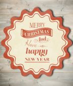 Composite image of banner and logo saying merry christmas — Stok fotoğraf