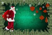 Santa claus prowadzenie worek — Zdjęcie stockowe