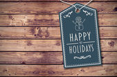 Composite image of happy holidays banner — Zdjęcie stockowe