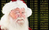 Composite image of santa claus winking — Stock Photo