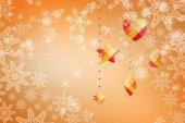 Composite image of snowflakes on silver — Stockfoto