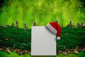 Obraz kompozytowy jodła oddział Bożego Narodzenia ozdoba Garland — Zdjęcie stockowe