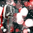Microphone with Santa hat — Stock Photo #56890011