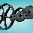 Metal cogs and wheels connecting — Stock Photo #56890513