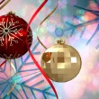 Christmas baubles decorations — Stock Photo #56894353