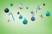 Hanging Christmas decorations — Stock Photo