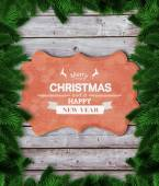 Composite image of fir tree branches forming frame — Stock Photo