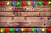 Samengestelde afbeelding van kerstverlichting in een lijn — Stockfoto