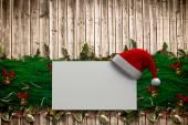 Composite image of fir branch christmas decoration garland — Zdjęcie stockowe
