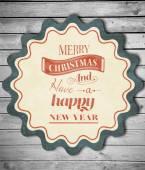 Composite image of logo wishing a merry christmas — Stock Photo