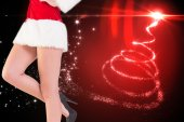 Festive womans legs in high heels — Stock Photo
