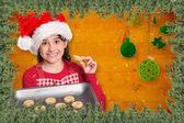 Uroczysty dziewczynka oferuje ciasteczka — Zdjęcie stockowe