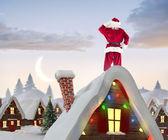 Composite image of santa claus — Foto Stock
