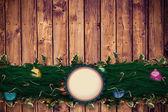 Fir branch christmas decoration garland — Stok fotoğraf