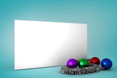 Christmas decoration and poster — Stock Photo
