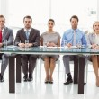 Panel of corporate personnel officers in office — Stock Photo #56904859