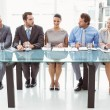 Panel of corporate personnel officers in office — Stock Photo #56905299